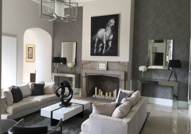 Grade II Listed building conversion to apartments - living room.