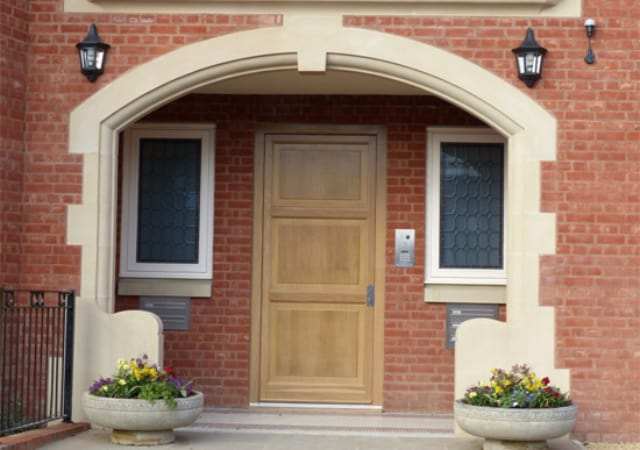 New build residential property - Main Entrance.