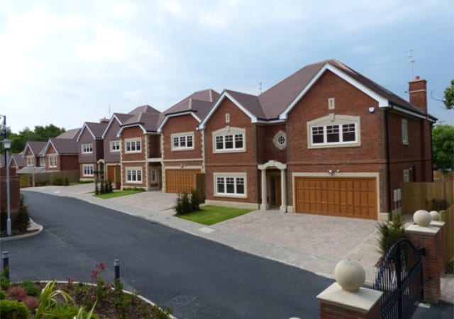 New build residential development.