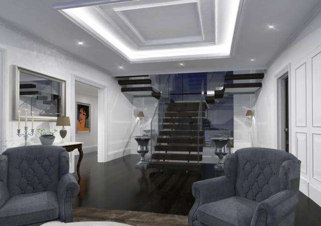 New build residential property Radlett - Interior hallway design