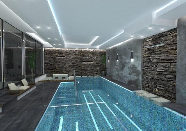 New build residential property Radlett - Indoor swimming pool design