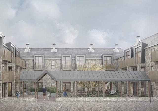 Ossulton Court - Social Housing exterior view.