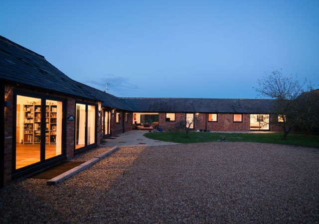 Exterior view of barn conversion project in the village of Maulden, Bedfordshire.