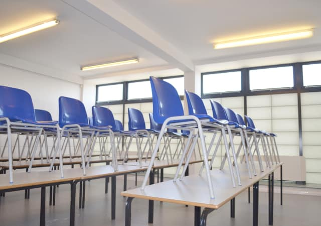 Featherstone High School, London - view of classroom interior.