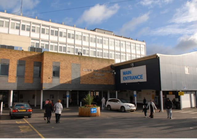 Main Entrance to Luton and Dunstable University NHS Foundation Trust Hospital