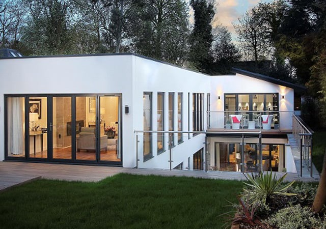 Exterior view of luxury residential property in Bushey, Hertfordshire.