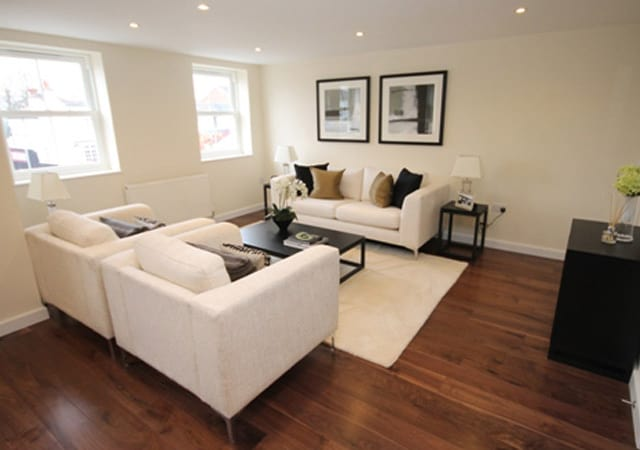 Interior view of luxury apartment in Bushey, Hertfordshire.