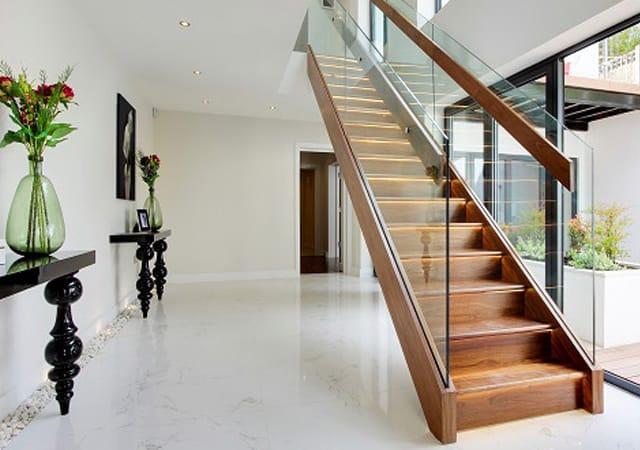 Hallway interior view of luxury residential property in Bushey, Hertfordshire